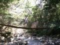 Kleine hangbrug in Rincón de la Vieja Nationaal Park