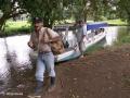 Alle vervoer in Tortuguero gaat per watertaxi