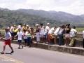 Onderweg naar Jacó móet je even stoppen op de brug over Rio Tárcoles...