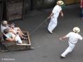 Monte: carreiros staan klaar voor een afdaling met een tobogan