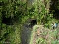 Ribeira da Janela: waterval tussen de eerste en tweede tunnel in de wandelroute langs de Levada da Central da Ribeira da Janela