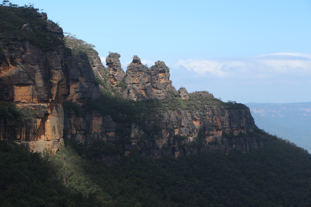 The Three Sisters is een beroemde rotsformatie in Blue Mountains NP.