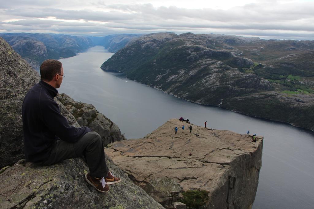 Preikestolen - Fenomenaal, hoogtevrees tartend, uitzicht op het Lysefjord
