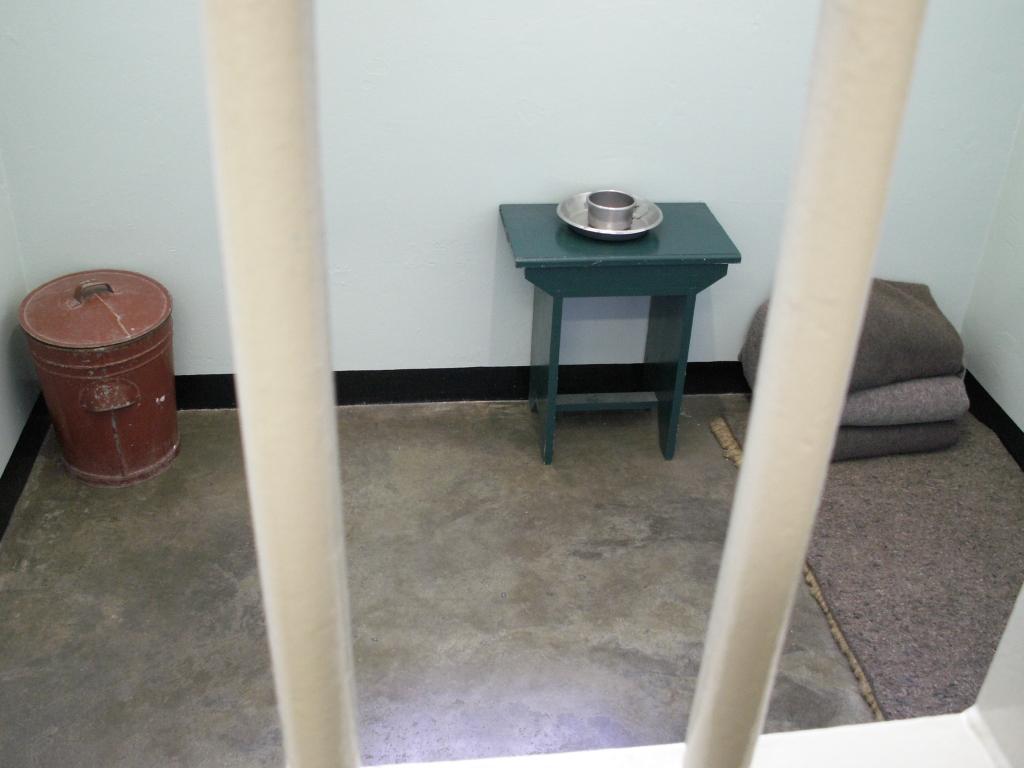 Kaapstad - Voormalige cel van Nelson Mandela op Robben Island