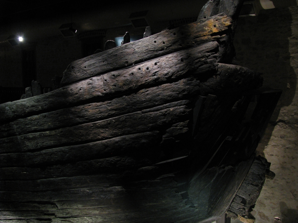Fremantle - In het Maritime Museum zien we een origineel deel van de Batavia