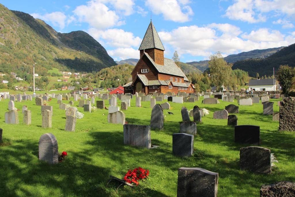 Røldal - De kerk van Røldal is een van de oudste van Noorwegen