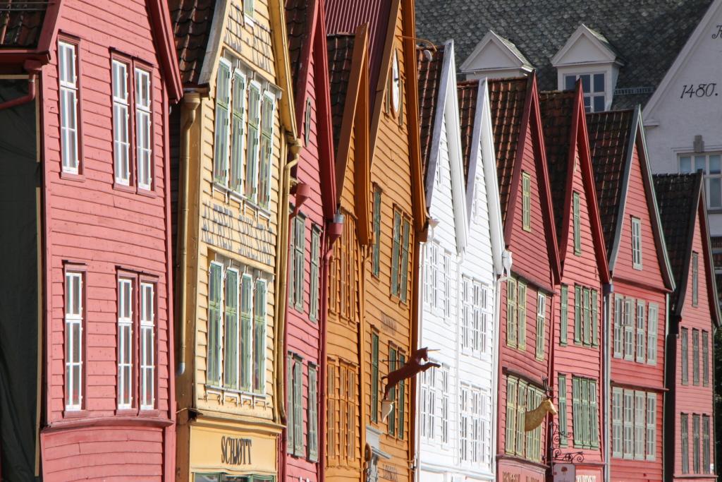 Bryggen is het historische deel van Bergen en tevens Unesco Werelderfgoed.