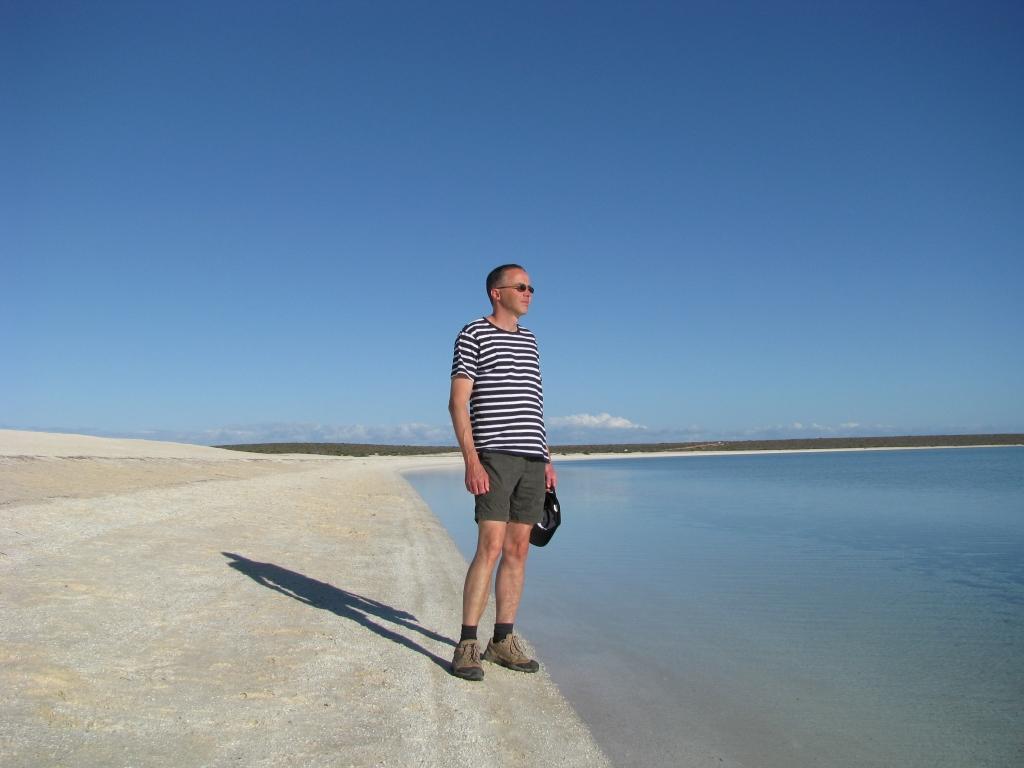 Shark Bay - Witte schelpen op het strand van Shell Beach
