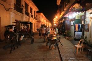 Calle Crisologo in het oude Vigan is gelukkig Jeepney-vrij.