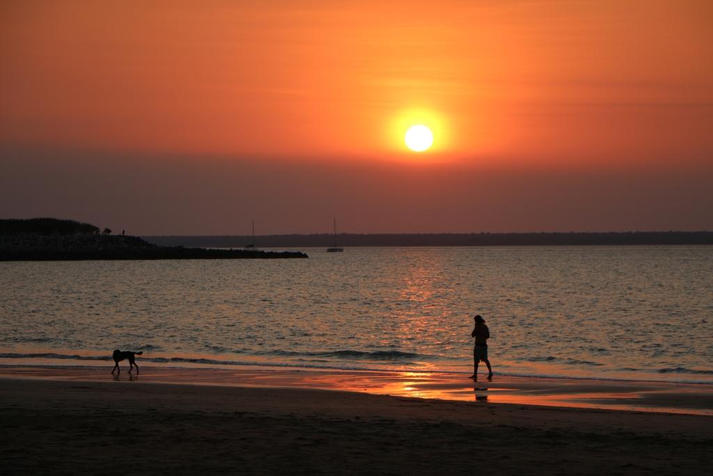 Mindil Beach, de place to be voor de Sunset Market en de mooiste zonsondergang van Darwin.