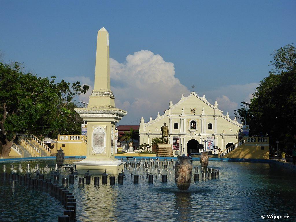 Plaza Salcedo ligt er overdag rustig bij...