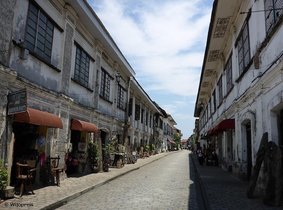 Calle Crisologo in het historische oude centrum van Vigan