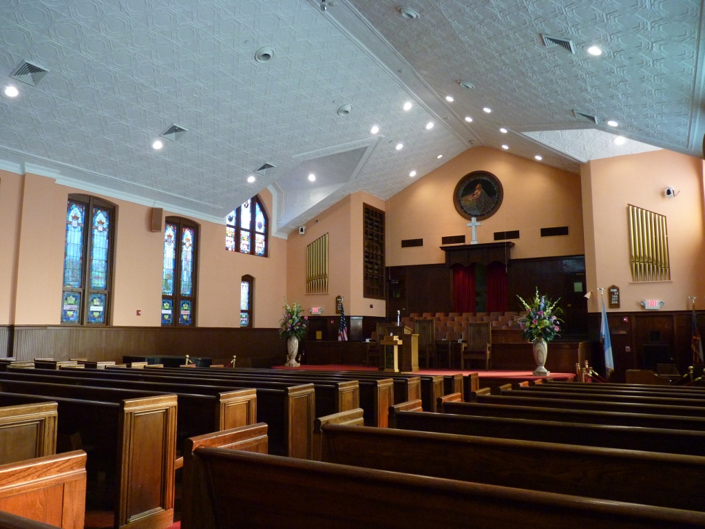 Atlanta - De Ebenezer Baptist Church, waar Martin Luther King predikte