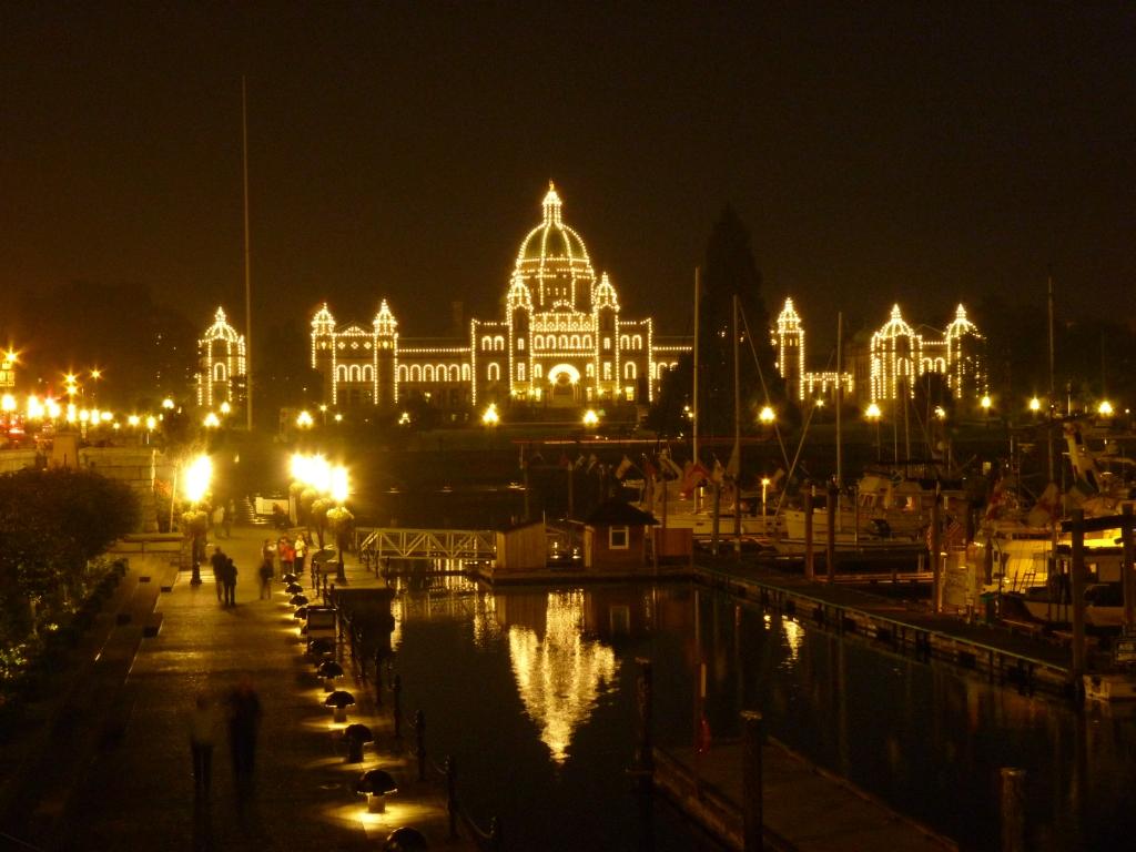 Victoria - Het verlichte parlementsgebouw
