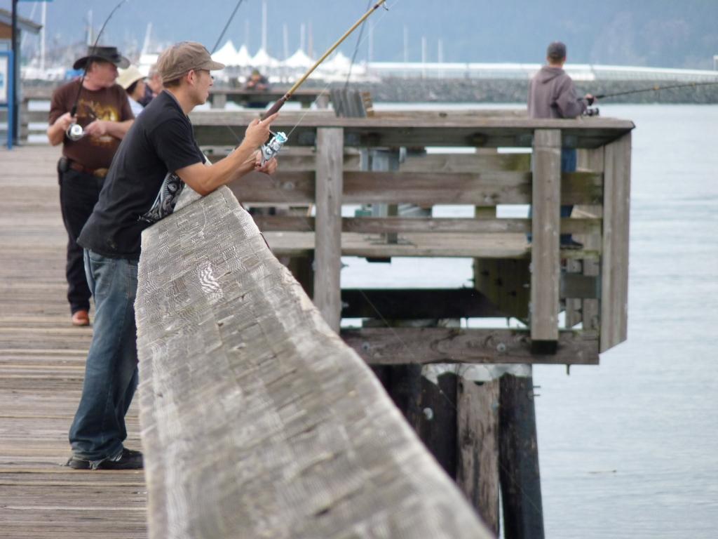 Campbell River - De visserspier wordt intensief gebruikt