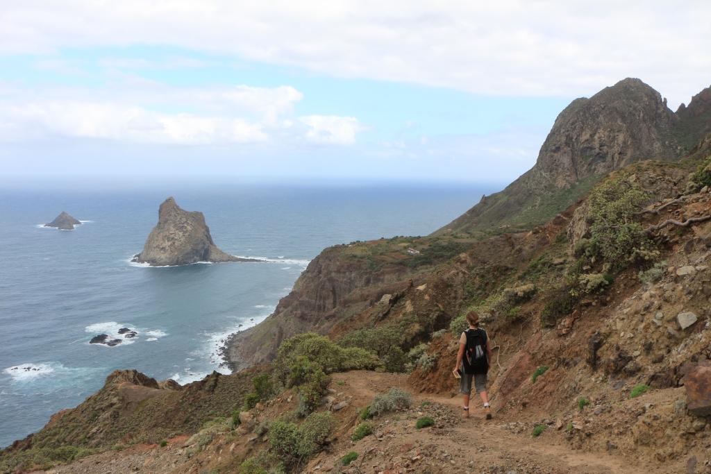 Las Palmas en Roque del Dentro komen in zicht