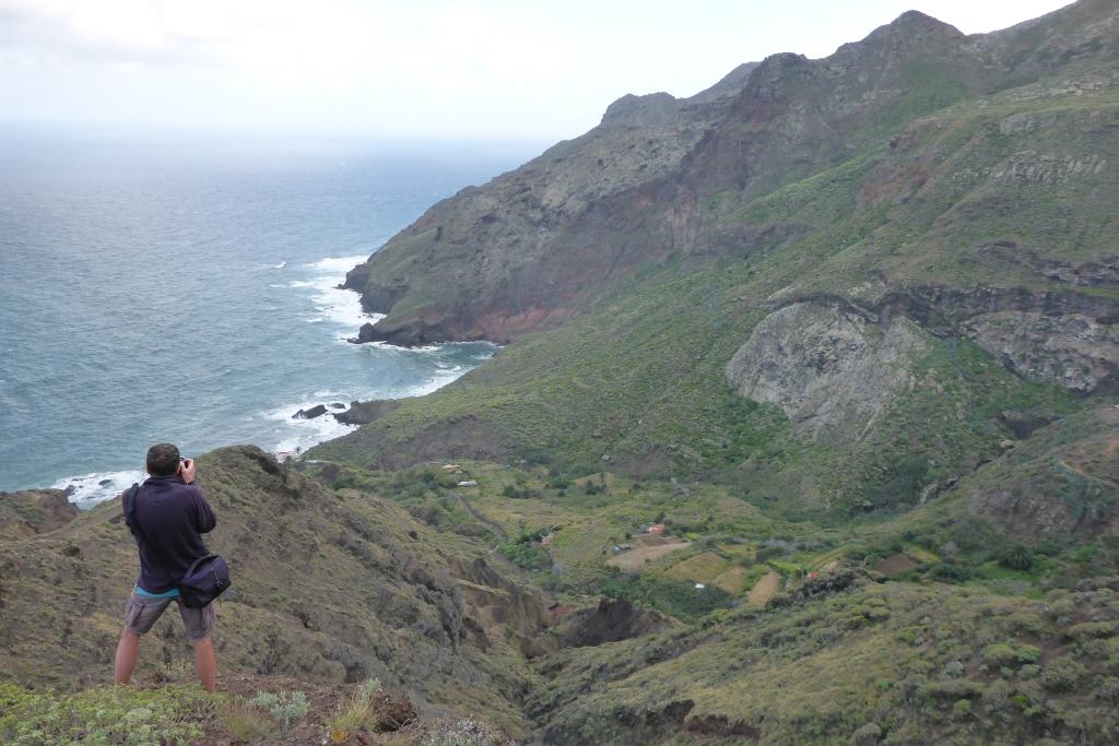 Zicht op de Barranco de Roque Bermejo