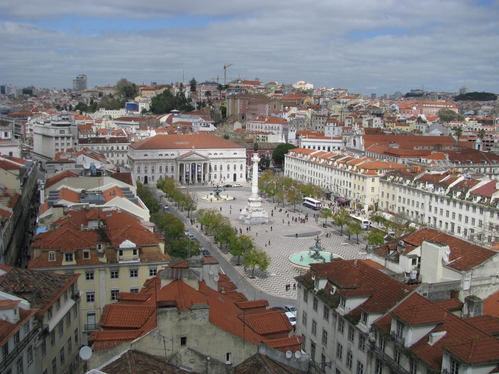 Praça Dom Pedro IV - Lissabon - Portugal