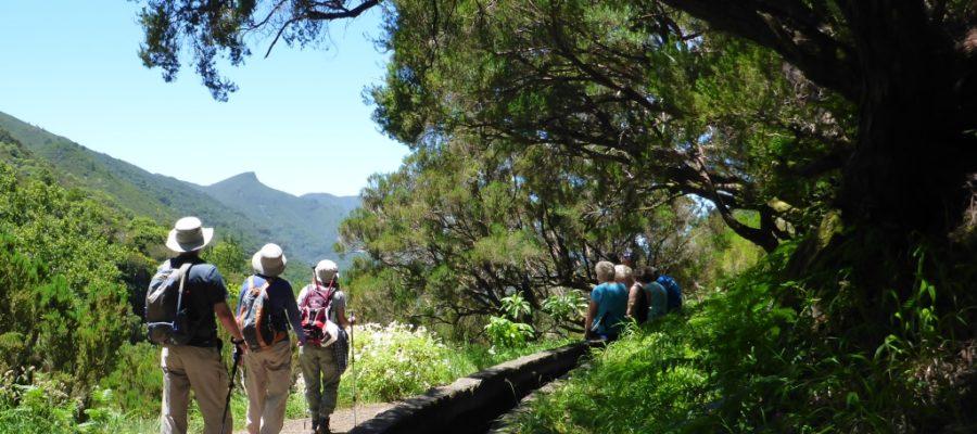 Aan het begin van de wandeling naar 25 fontes is het pad nog breed.