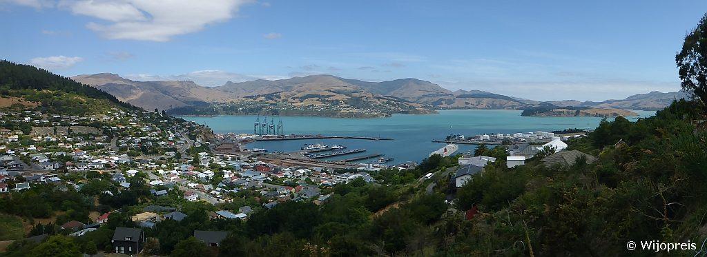 Lyttelton heeft de grootste haven van het Zuideiland