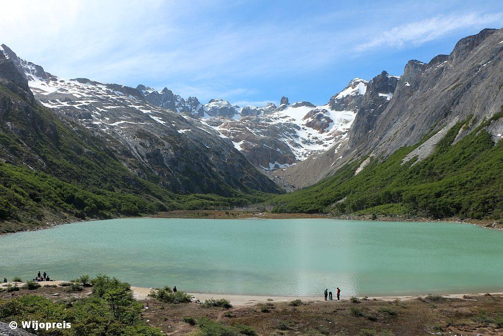 Het smaragd groene gletsjermeer Laguna Esmeralda