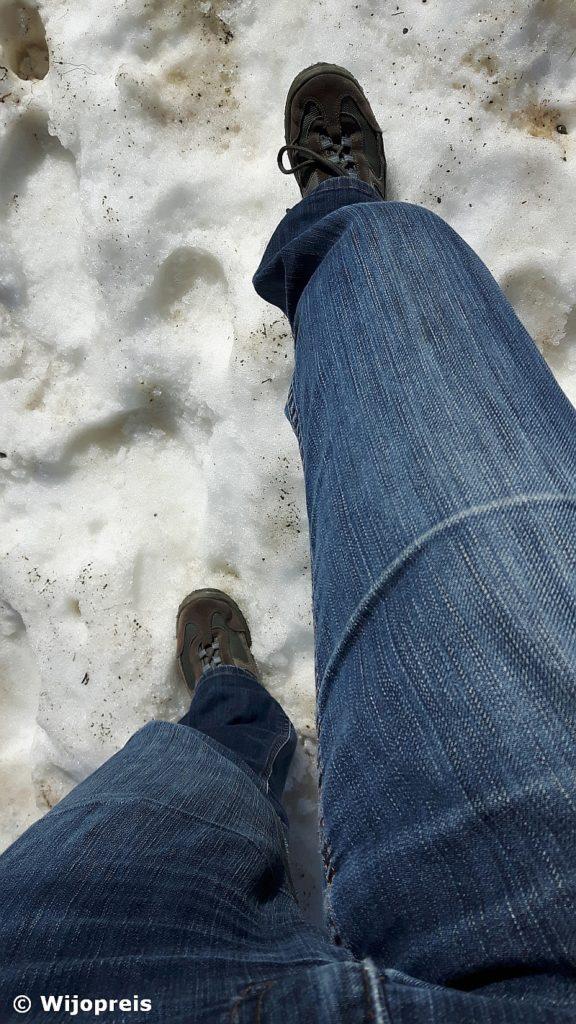 Ook in de zomer mag er nog sneeuw getrotseerd worden