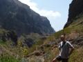 De eerste stappen in de Barranco de Masca