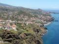 Restaurante Teleférico do Rancho: zicht op de zuidkust richting Funchal