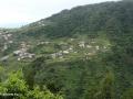 Ribeira da Janela: zicht op de terrassen vanaf de wandelroute langs de Levada da Central da Ribeira da Janela