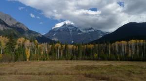 Mt. Robson is met zijn 3954 meter de hoogste berg van de Canadese Rocky Mountains.
