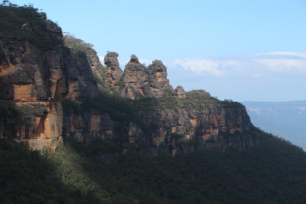 The Three Sisters is een beroemde rotsformatie in Blue Mountains NP.