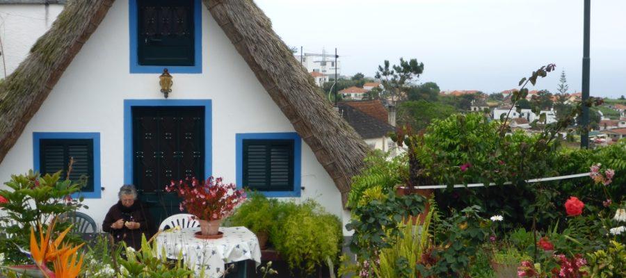 Casa do Colmo met rieten dak in Santana op Madeira.